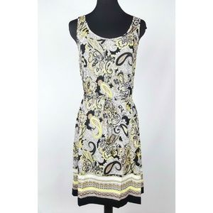 H&M Sleeveless Paisley Dress Women's XS